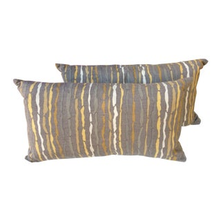 Gray Linen West Elm Pillows and Inserts