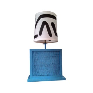 Contemporary Wicker Style Accent Lamp