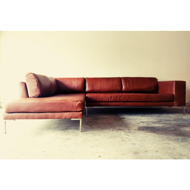 Gambrell Renard Leather Sofa Chaise Sectional - Image 2 of 5