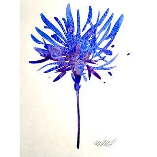 'Violet Petals' Watercolor Painting