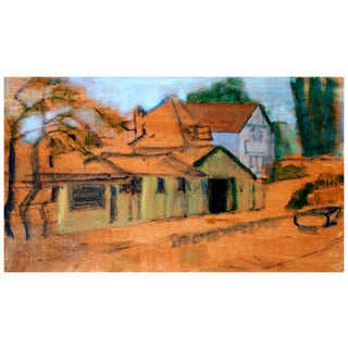 Vintage Painting of Columbia, California