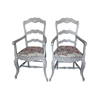 French Country Armchairs - A Pair