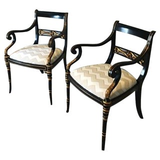 Maitland Smith Accent Chairs - Pair