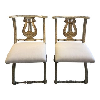 Antique Venetian Lyre Back Chairs