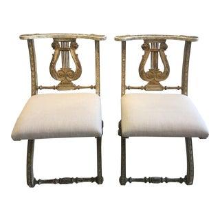 Antique Venetian Lyre Back Chairs
