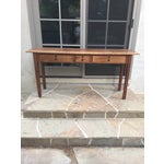 Image of Antique Three-Drawer Console Table