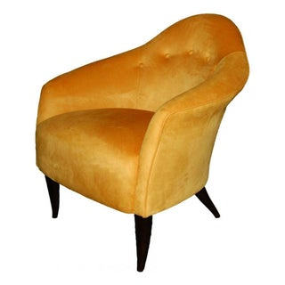 Custom Snygg Arm Chair in Yellow Ultrasuede