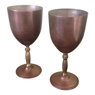 Copper & Brass Goblets - a Pair