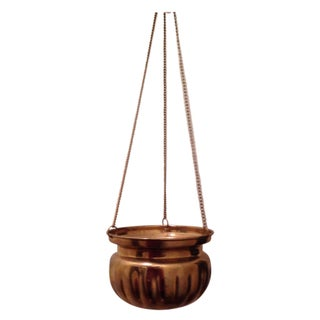 Solid Brass Hanging Planter