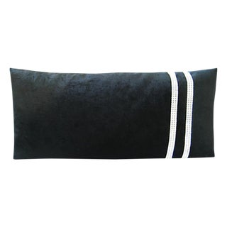 Black Lumbar Pillow with Swarovski Crystals