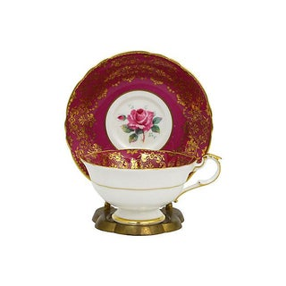 Paragon Red Rose Teacup & Saucer