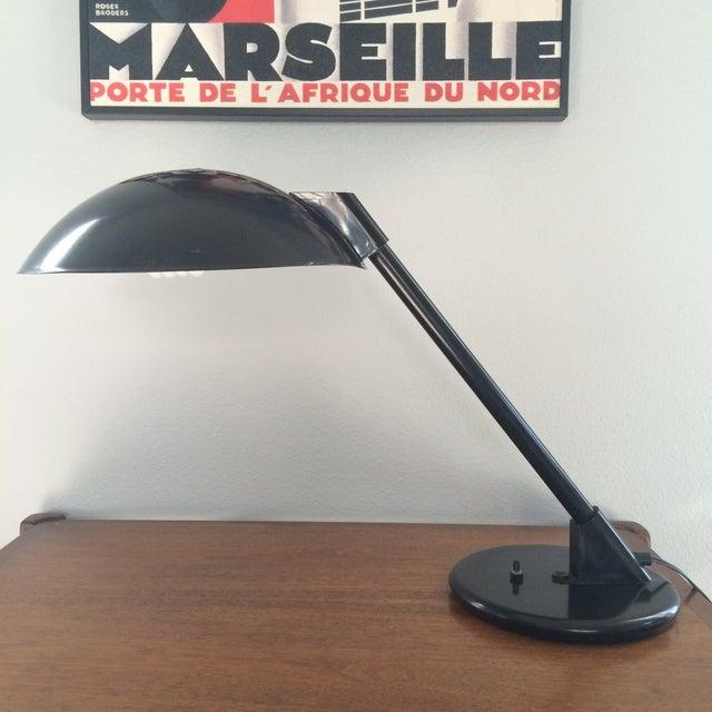 Vintage Black Metal Atomic Desk Lamp - Image 2 of 11