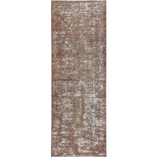 "Apadana - Vintage Distressed Persian Tabriz Runner Rug 3'3"" x 9'10"""