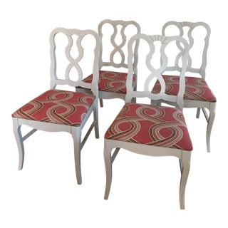 Dove Gray Ribbon Back Chairs - Set of 4