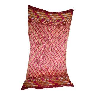 Vintage Indian Silk & Cotton Phulkari