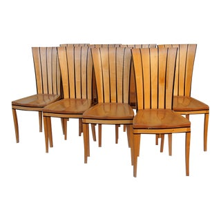 Eliel Saarinen Tall-Back Chairs - Set of 6