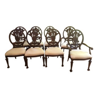 Traditional Wooden Dining Chairs - Set of 8