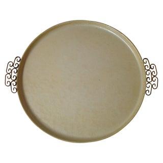 Round Moire Glaze Tray