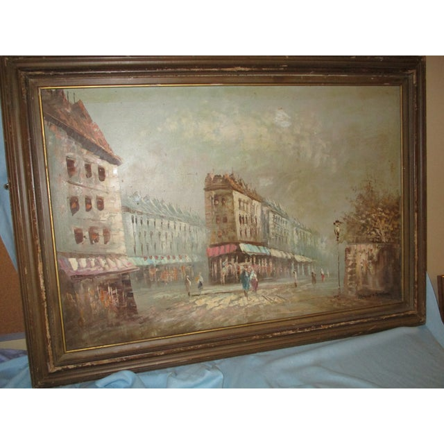 French Neo Impressionist Antoine Blanchard Oil on Canvas - Image 2 of 11