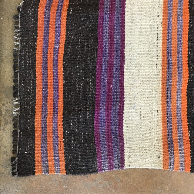 Striped Flat Weave Rug - 4′6″ × 8′6″ - Image 4 of 5