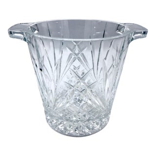Mid-Century Cut Lead Crystal Ice Bucket / Champagne Cooler