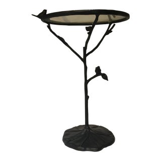 Metal & Glass Round Birdie Table