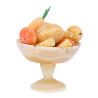 Vintage Italian Petite Marble Fruit Bowl