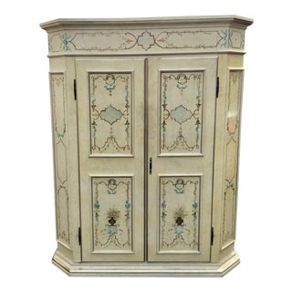 Paint Decorated Italian Armoire by Patina Furniture
