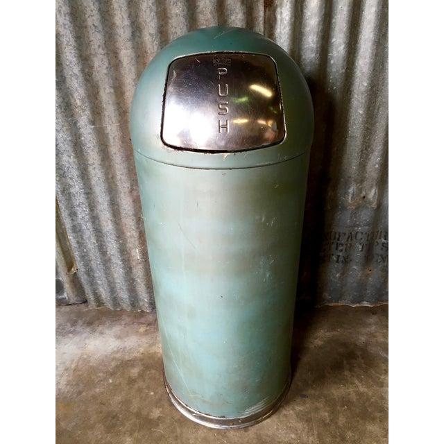 Vintage United Metal Trash Can - Image 2 of 11