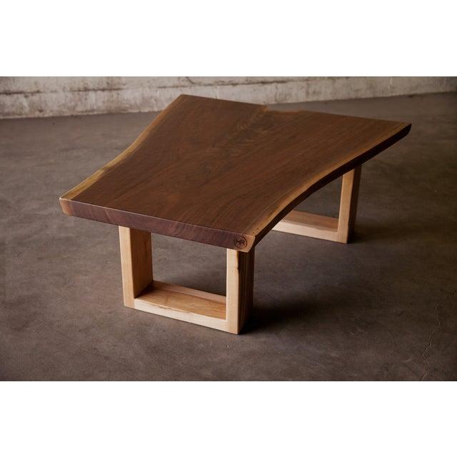 Live Edge Coffee Table Base: Live Edge Walnut Coffee Table With Maple Base