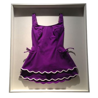 Framed Panama City Purple Bathing Suit
