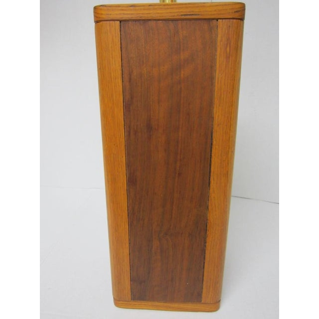 Image of Mid Century Modern Solid Wood Table Lamp