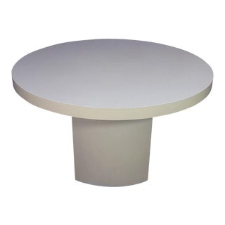 Mid-Century Modern Round Formica Top Coffee Table