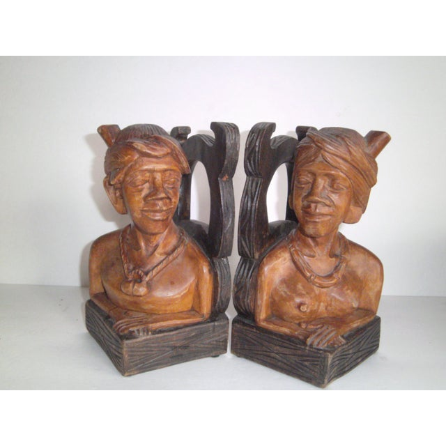 Hand Carved Wooden Bookends - Image 9 of 11
