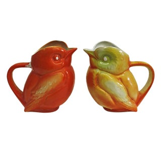 Vintage French Bird Pitchers- A Pair
