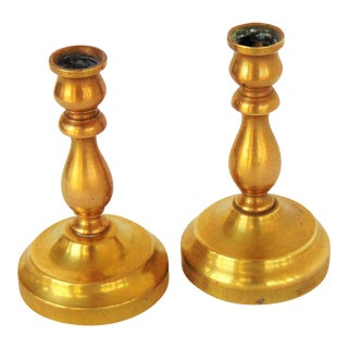 Brass Candlestick Holder - A Pair