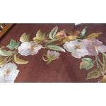 Image of Antique Rococo Framed Embroidered Floral Wreath