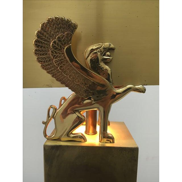 Rare Custom Lamp in the Manner of Karl Springer - Image 5 of 9