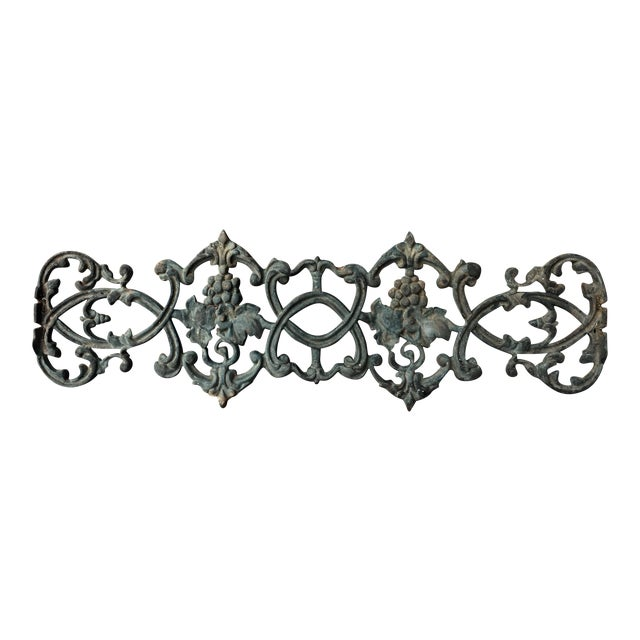 Antique Rococo Vineyard Cast Iron Scrolling Wall Accent, Architectural Salvage - Image 1 of 5
