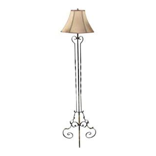 20th C. Wrought Iron Floor Lamp