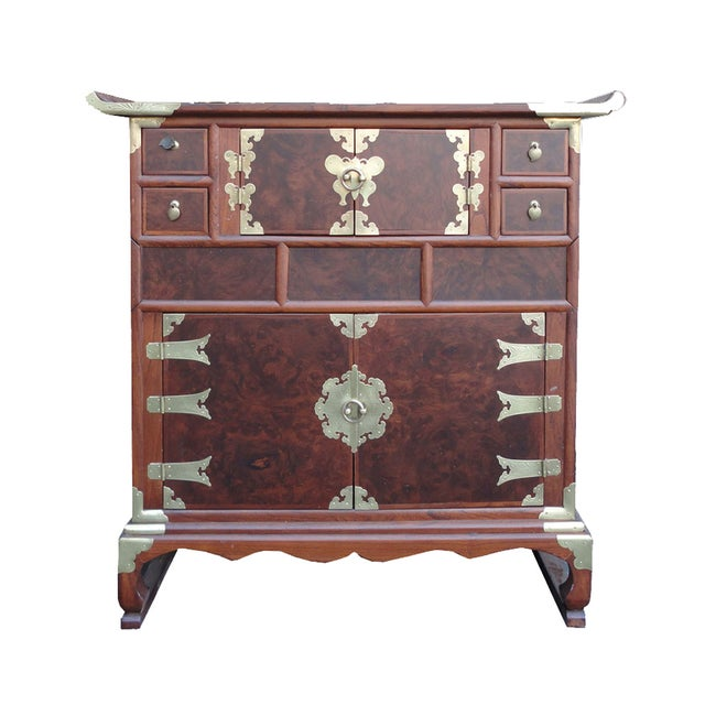 Image of Korean Burl Wood Chest