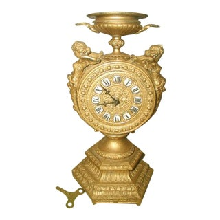 Antique 8-Day Gilt Mayer Cherub Clock