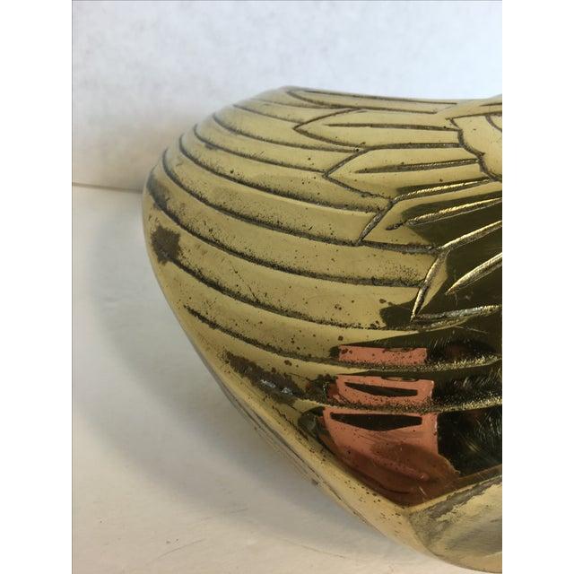 Art Deco Style Brass Swan Basket - Image 7 of 8