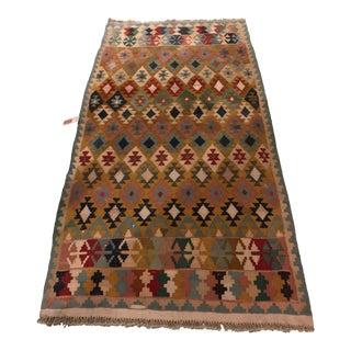 """Vintage Turkish Flat Weave Kilim Rug - 3'3"""" x 6'3"""""""