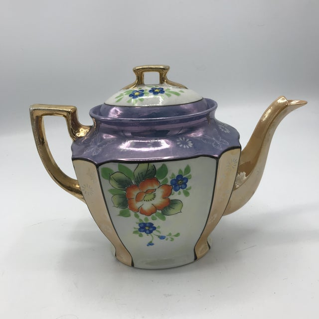 Antique Japanese Lustreware Teapot - Image 2 of 7