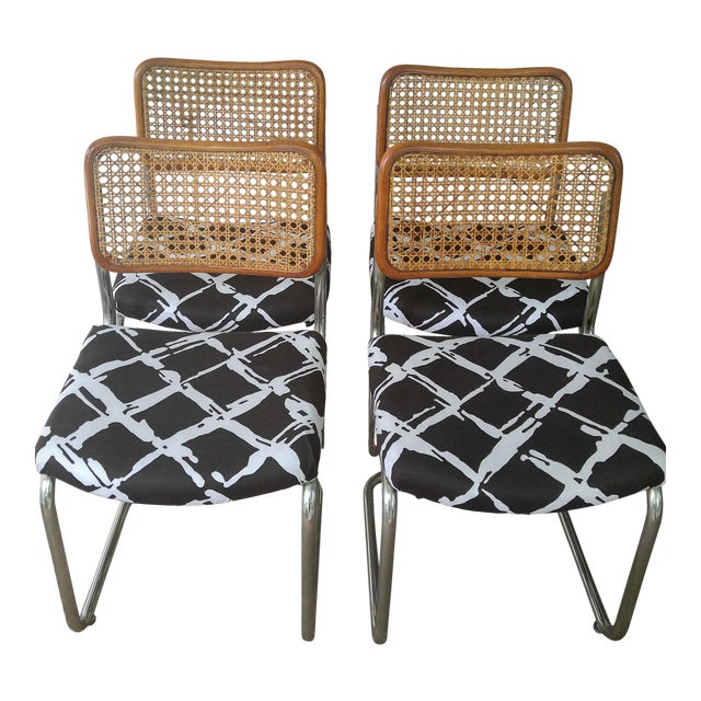 Woven Cesca Style Chairs - Set of 4 - Image 1 of 7