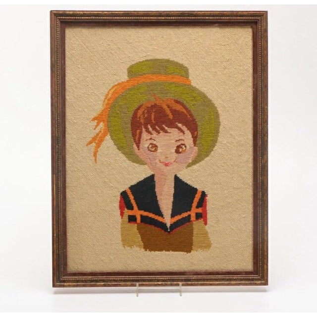 Image of Vintage Boy in Hat Embroidery