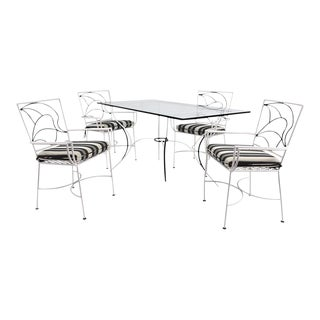 Five-Piece Iron Outdoor Dining Set