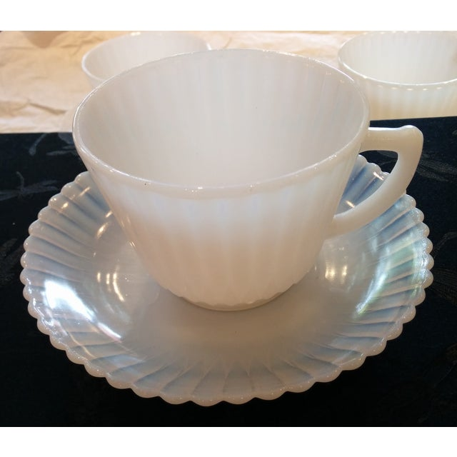 1920s Petalware Teacups and Saucers - Set of 3 - Image 5 of 9