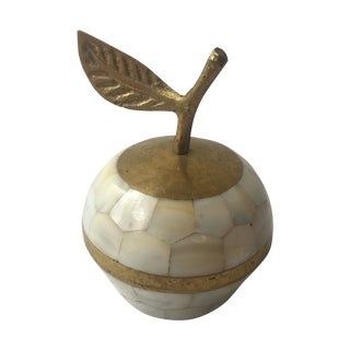 Brass & Mother of Pearl Apple Box